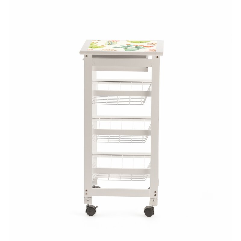 Galileo Kitchen Trolley With Gl Top