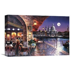 'Cafe Barocco' by James Lee Painting Print on Wrapped Canvas by Global Gallery
