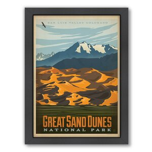 National Park Great Sand Dunes Framed Vintage Advertisement by East Urban Home