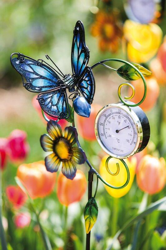 Murdock Butterfly Thermometer Garden Stake