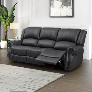 Baynes Faux Leather Reclining Living Room Set by Darby Home Co