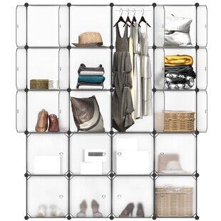 Carmona 58 W 20 Cubby Shelving Closet System By Rebrilliant