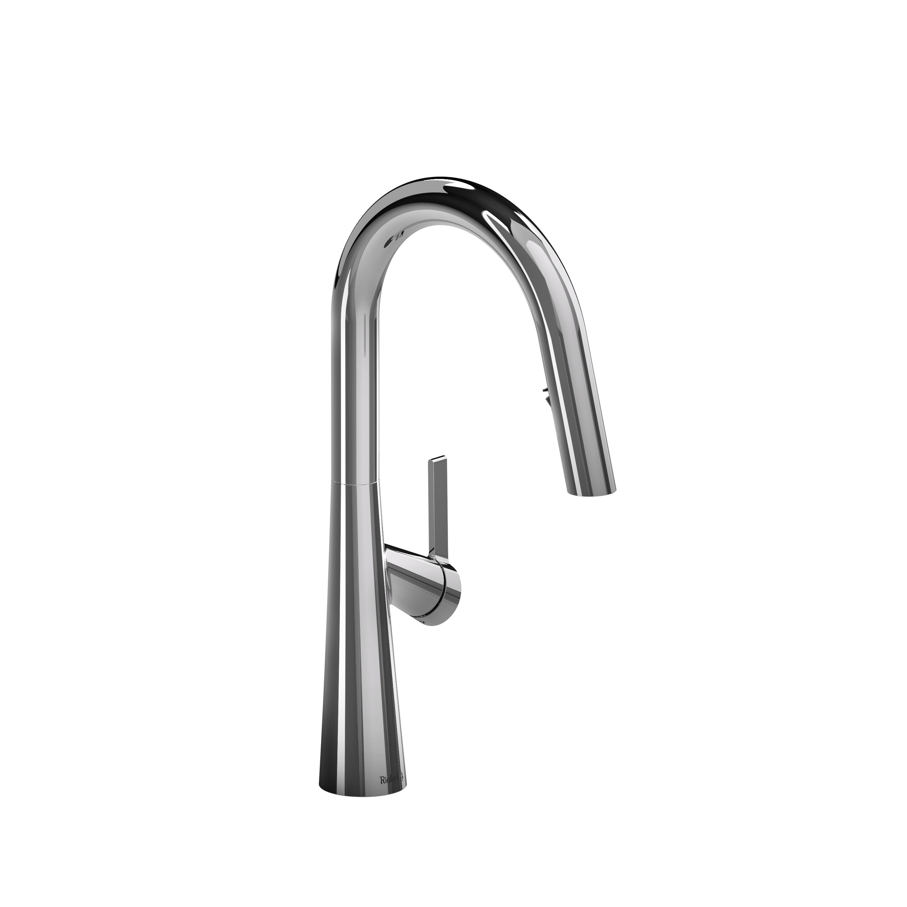 Ludik Pull Down Single Handle Kitchen Faucet With Boomerang Fully Retractable Spray Technology Allmodern