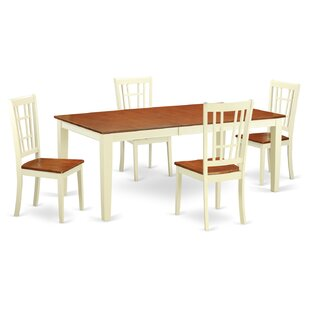 Pilger 5 Piece Dining Set with Rectangular Table Top By August Grove