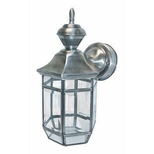 Reviews Goethe Metal Outdoor Wall Lantern with Motion Sensor By World Menagerie