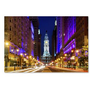 City Hall Philadelphia Photographic Print on Wrapped Canvas by Latitude Run