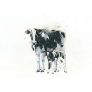Cow and Calf Graphic Art on Wrapped Canvas by Laurel Foundry Modern Farmhouse