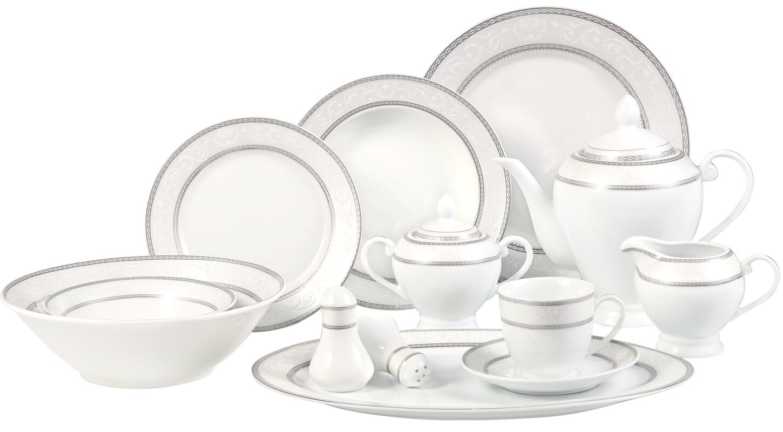 Sirena 57 Piece Dinnerware Set Service for 8  sc 1 st  Wayfair & Lorren Home Trends Sirena 57 Piece Dinnerware Set Service for 8 ...