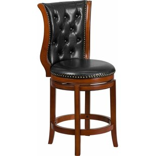 Rouillard 26'' Swivel Bar Stool By Astoria Grand