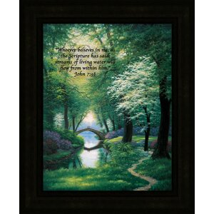 Beside Still Waters by Charles White Framed Painting Print on Canvas by Hadley House Co