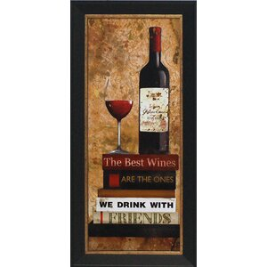 'Best Red Wine' by Carol Robinson Framed Graphic Art by Artistic Reflections