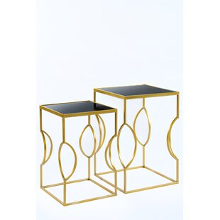 Best Reviews Set of 2 Clemence Side Tables By Statements by J