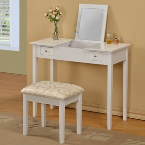 Healey Vanity Set with Mirror by Andover Mills