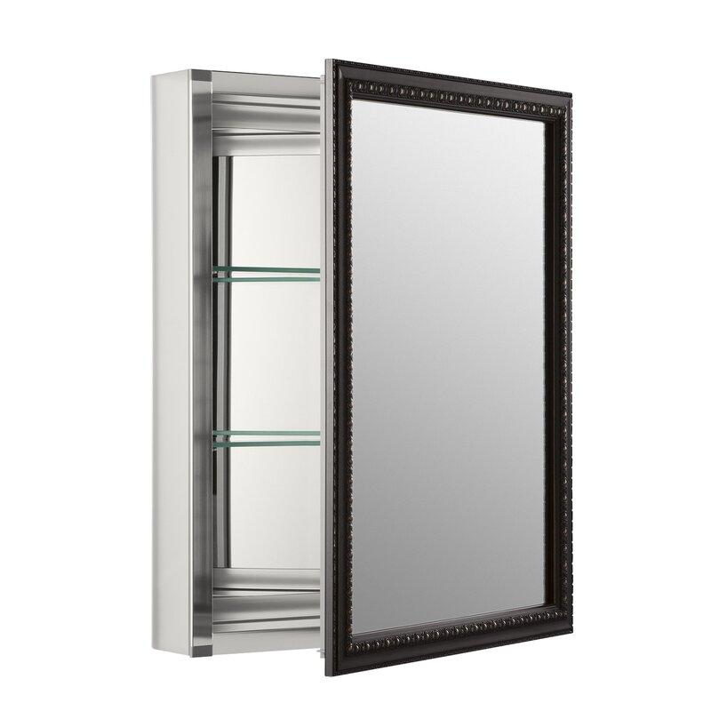 Recessed Or Surface Mount Framed 1 Door Medicine Cabinet With 2 Adjustable Shelves Amp Reviews