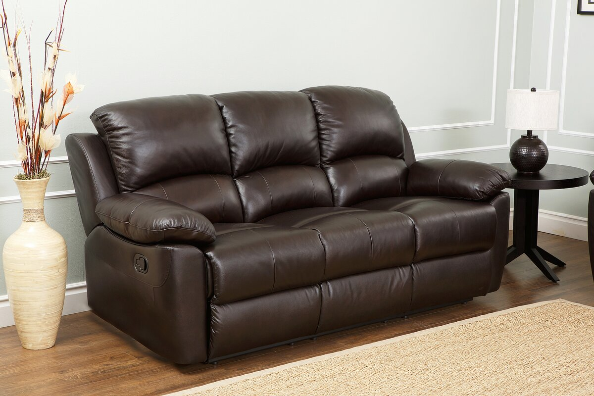 Awesome Blackmoor Leather Reclining Sofa Part 7