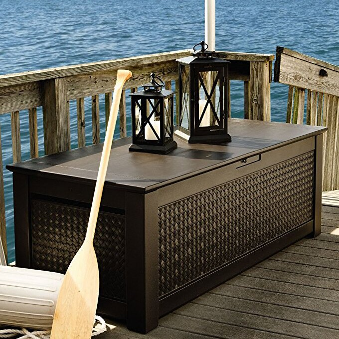 Patio Chic™ 136 Gallon Resin Deck Box