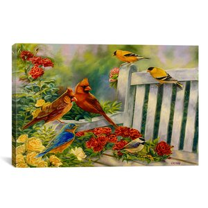 'Where Friends Meet (Birds)' Painting Print on Canvas by August Grove