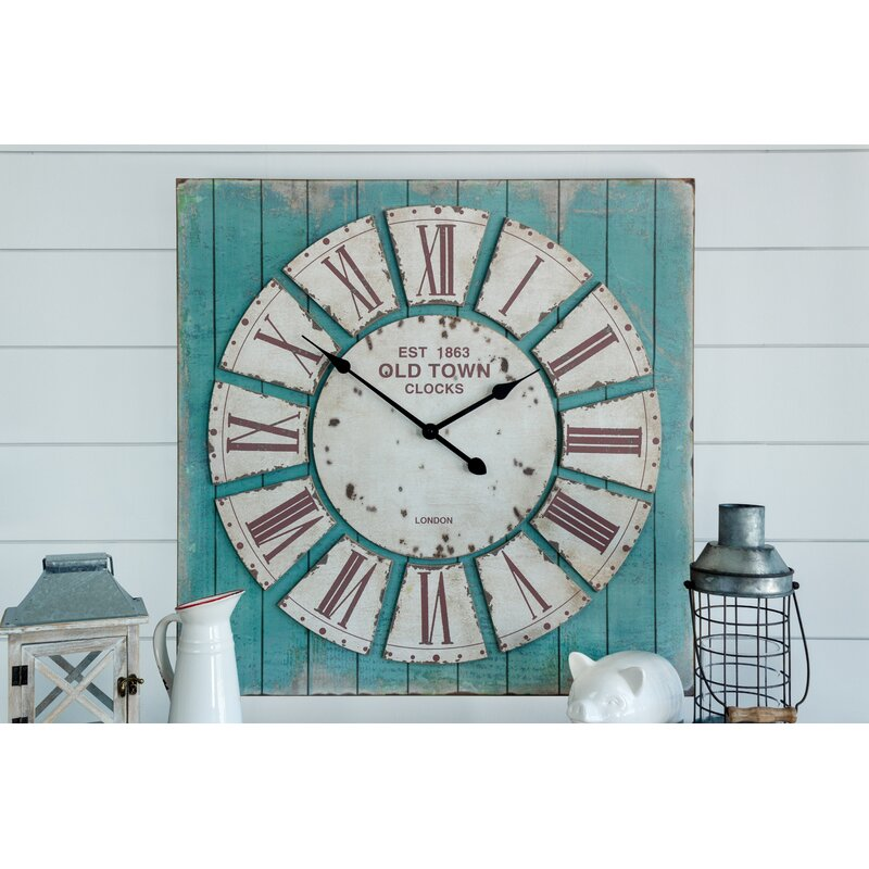 August Grove Bemelle Oversized Rustic Wall Clock Reviews Wayfair