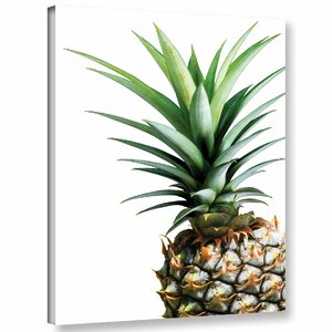 'Pineapple Color' Graphic Art Print on Canvas by Bay Isle Home