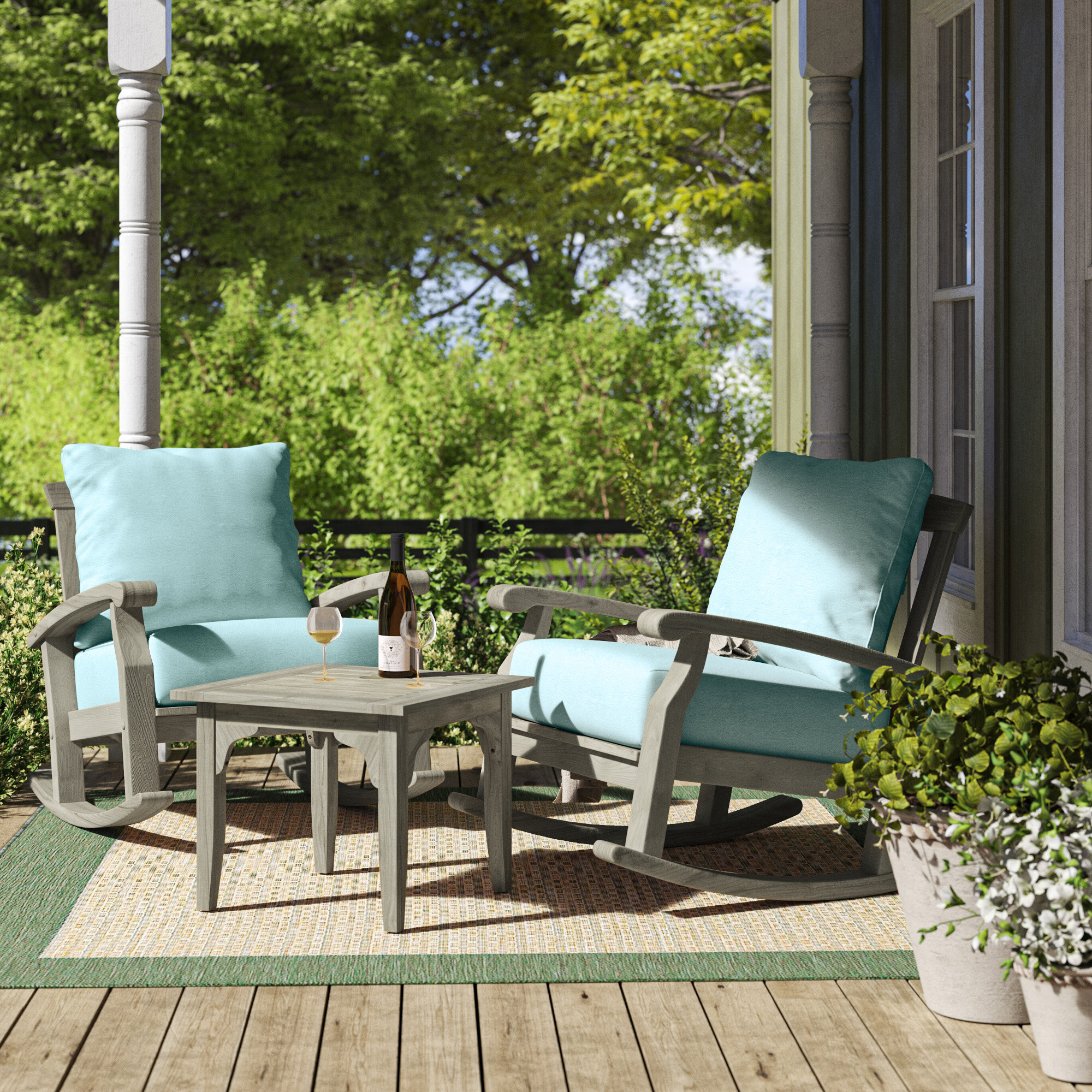 Grey Lounge Deep Seating Teak Patio Conversation Sets You Ll Love In 2021 Wayfair