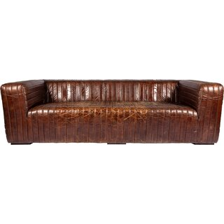 Andr๏ฟฝa Leather Chesterfield Sofa by 17 Stories SKU:EE991759 Description