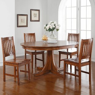 Fort Kent 5 Piece Solid Wood Dining Set By Loon Peak