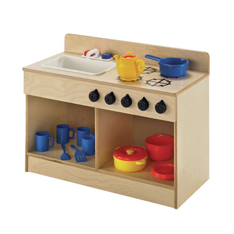 Childcraft Toddler Sink And Stove Combo Kitchen Set Wayfair
