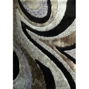 Straley Hand-Woven Gray/Black Area Rug By Orren Ellis