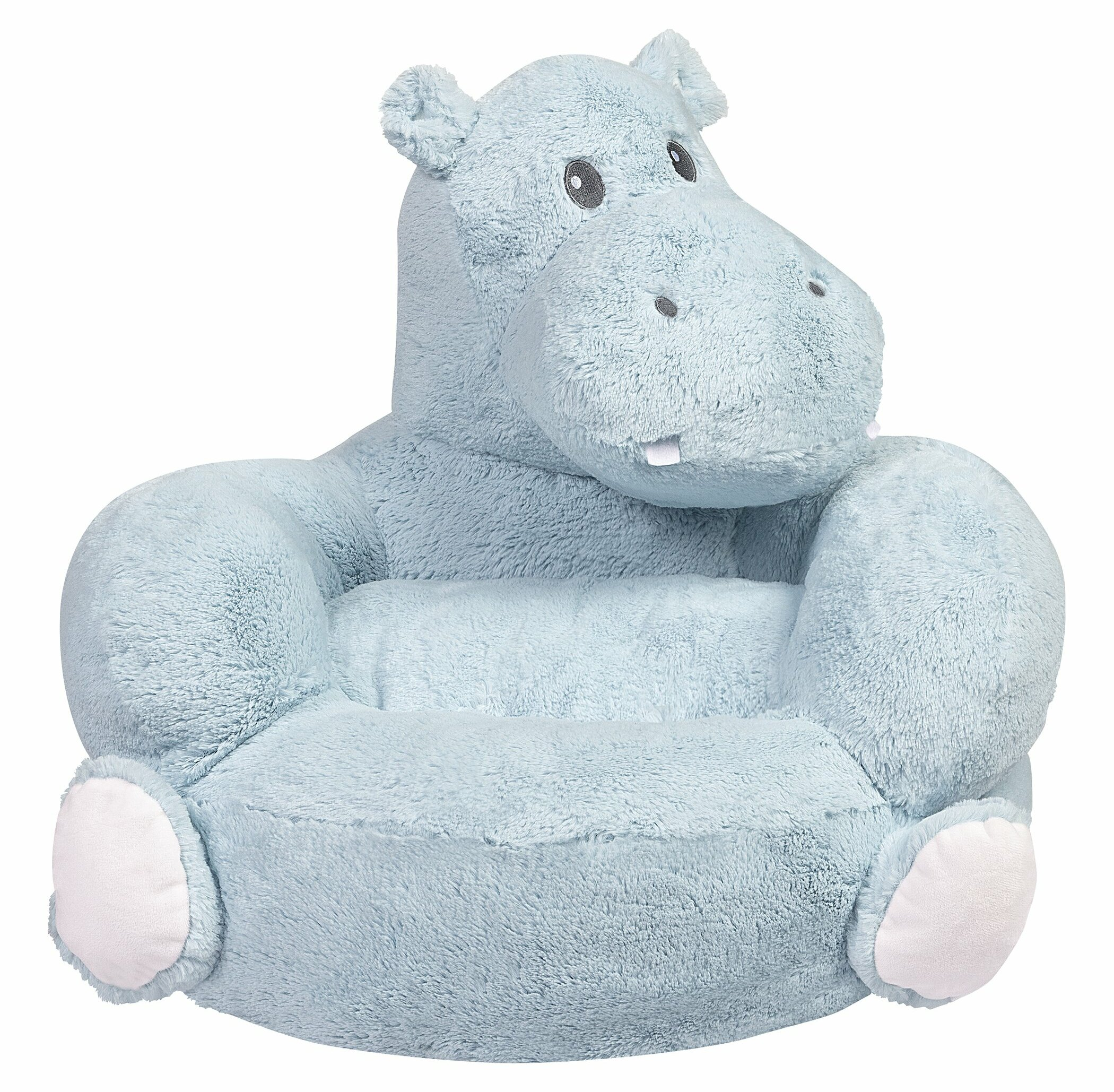 Plush Hippo Character Novelty Chair