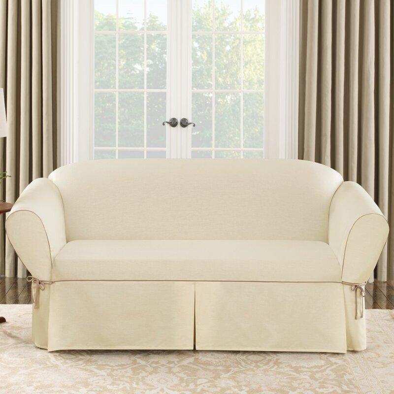 Sure Fit Cotton Duck Sofa Slipcover Amp Reviews Wayfair