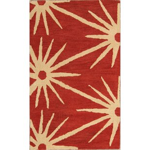 Hailie Oushak Indian Oriental Hand-Tufted Wool Red/Burgundy Area Rug by Bloomsbury Market