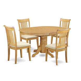 Emmaline 5 Piece Extendable Breakfast Nook Solid Wood Dining Set By Alcott Hill