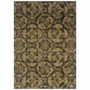 Tarquin Woven Gray/Black Area Rug ByBloomsbury Market