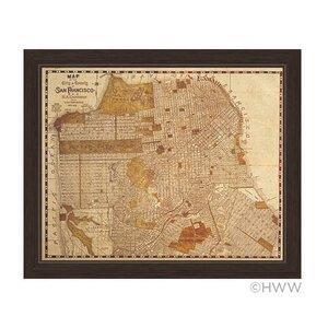 'Map Of San Francisco' Framed Graphic Art by Trent Austin Design