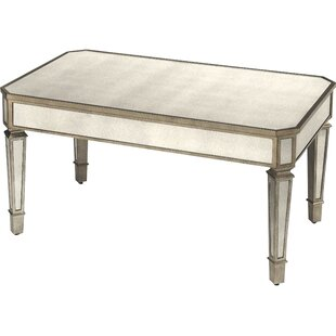 Dabria Mirrored Coffee Table by Rosdorf Park