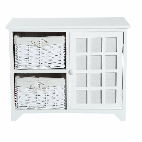 Brody Wooden Storage Bench House of Hampton Colour: White