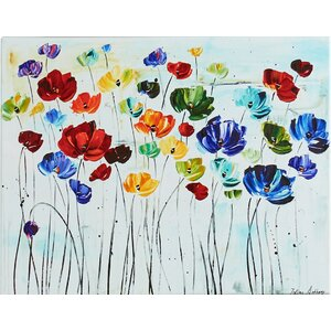 Lilies by Jolina Anthony on Canvas by Charlton Home