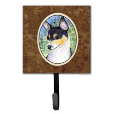 Fox Terrier Leash Holder and Wall Hook by Caroline's Treasures