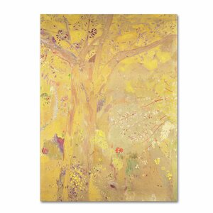 Yellow Tree 1900 by Odilon Redon Painting Print on Wrapped Canvas by Trademark Fine Art