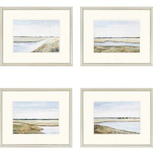 'Marshes Giclee' 4 Piece Framed Painting Print Set by Darby Home Co