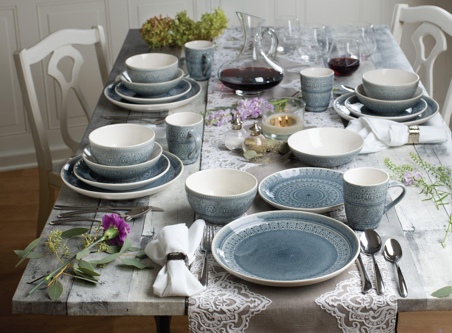 & Zeibak 20 Piece Dinnerware Set Service for 4 u0026 Reviews | Joss u0026 Main