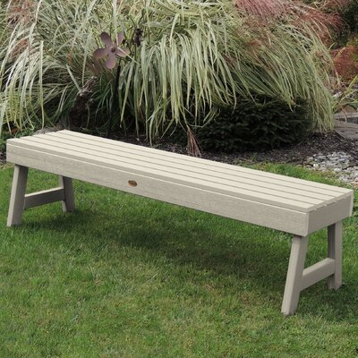 Trigg Backless Plastic Picnic Bench Darby Home Co Color: Whitewash