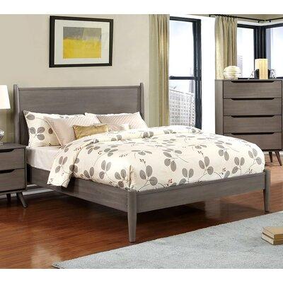 Goree Platform Bed Mercury Row Size: King, Color: Gray