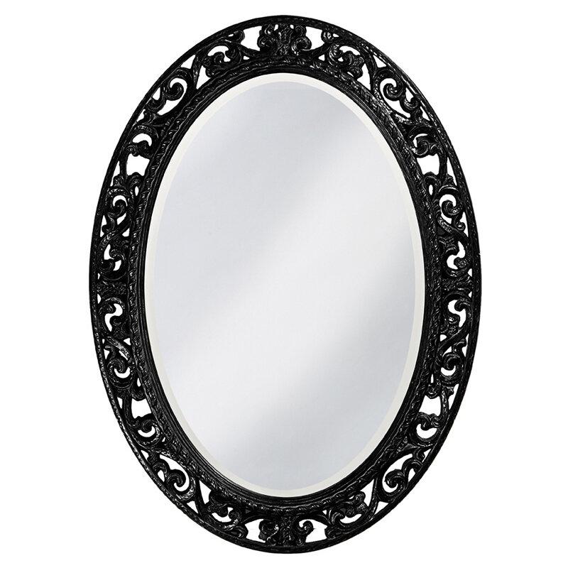 Rosdorf Park Oval Black Mirror | Wayfair