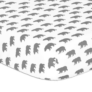 Top Reviews Gray Bear Fitted Crib Sheet By The Peanut Shell