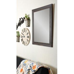 Read Reviews Rustic Espresso Wall Mirror ByBrandt Works LLC