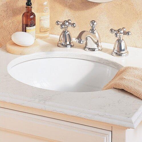 Ovalyn Ceramic Oval Undermount Bathroom Sink With Overflow