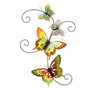 Iridescent Metal Butterfly Wall Décor