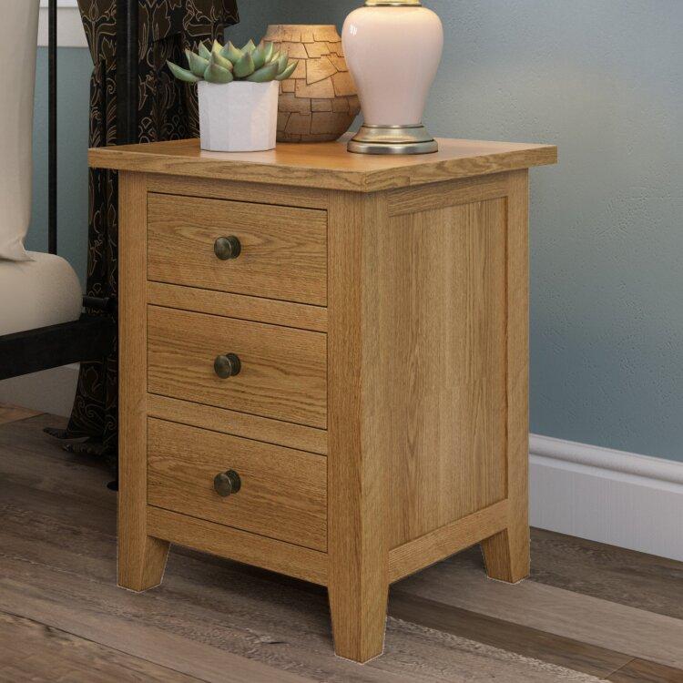Hamptonburgh 3 Drawer Bedside Table