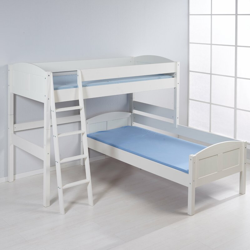 NELE European Single L Shaped Bunk Bed